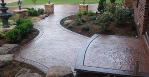 Decorative concrete flatwork installation in Roanoke, Virginia